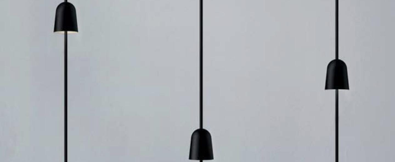 Lampe a poser ascent noir o17cm h65cm luceplan normal
