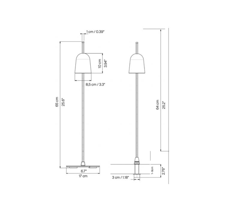 Ascent daniel rybakken lampe a poser table lamp  luceplan 1d780 000001  design signed nedgis 78431 product