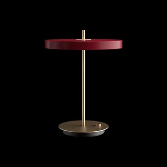 Lampe a poser asteria rouge rubis led 3000k 600lm o31cm h41 5cm umage normal