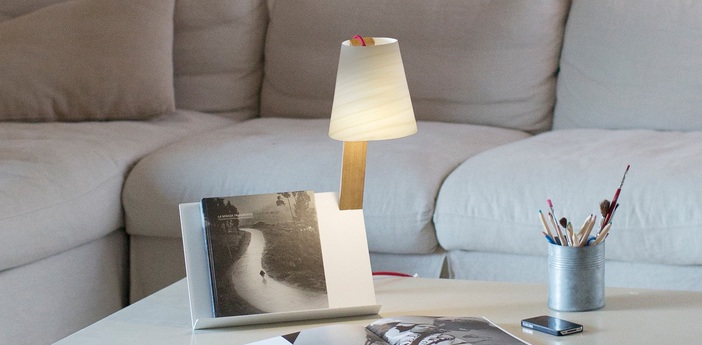 Lampe a poser asterisco blanc ivoire h43cm lzf normal