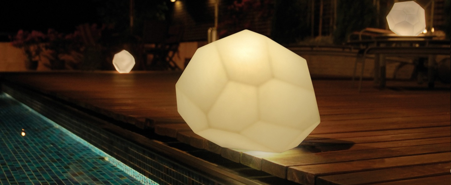 Lampe a poser asteroid blanc o30cm innermost normal