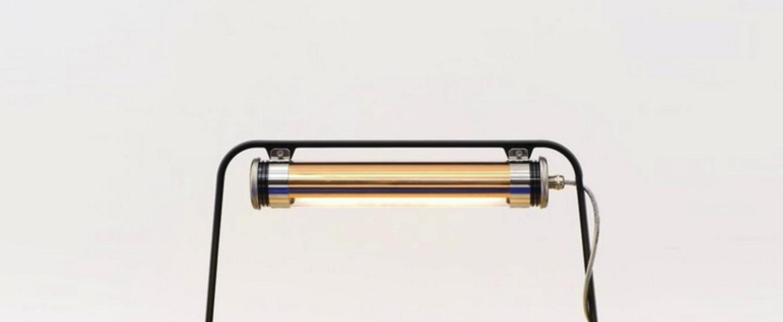 Lampe a poser astrup charbon cuivre led l60cm h35cm sammode normal