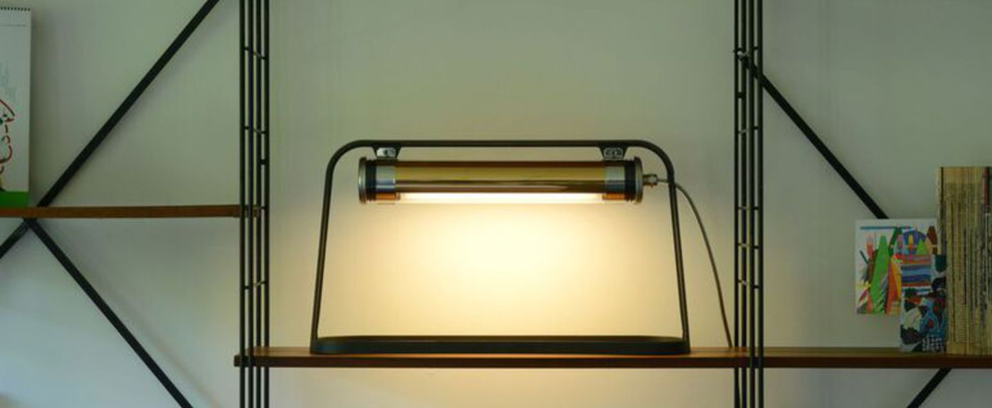 Lampe a poser astrup charbon or led l60cm h35cm sammode normal