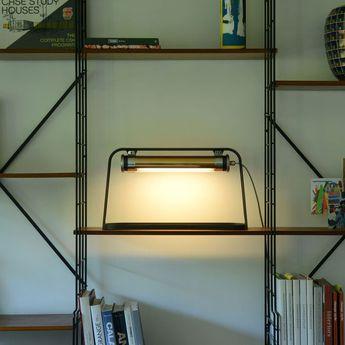 Lampe a poser astrup charbon or led l60cm h35cm sammode normal