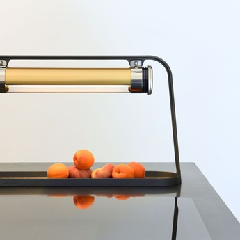 Lampe a poser astrup laiton led l60cm h35cm sammode normal