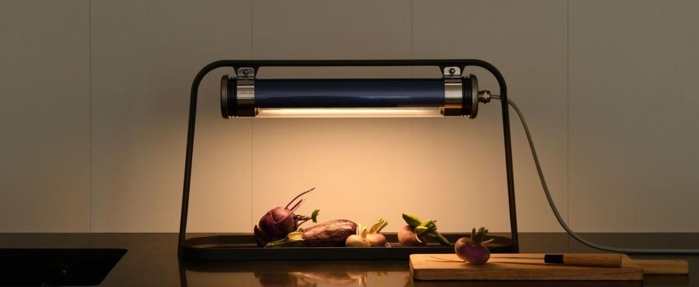 Lampe a poser astrup petrole led l60cm h35cm sammode normal