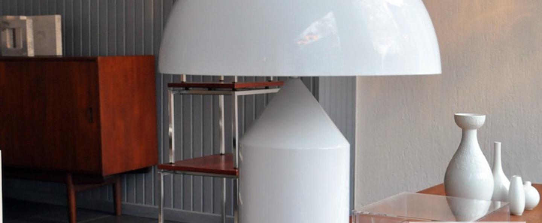 Lampe a poser atollo blanc h70cm oluce normal