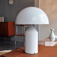 Atollo vico magistretti oluce 233 white luminaire lighting design signed 22111 thumb