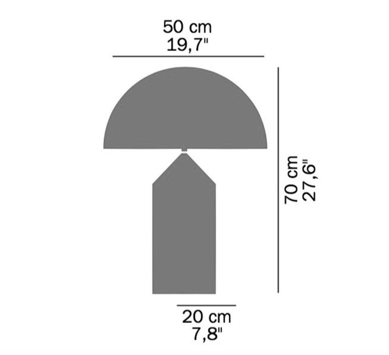 Atollo vico magistretti oluce 233 white luminaire lighting design signed 22114 product