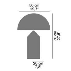 Atollo vico magistretti oluce 233 white luminaire lighting design signed 22114 thumb