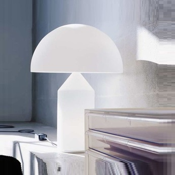 Lampe a poser atollo blanc h70cm oluce normal