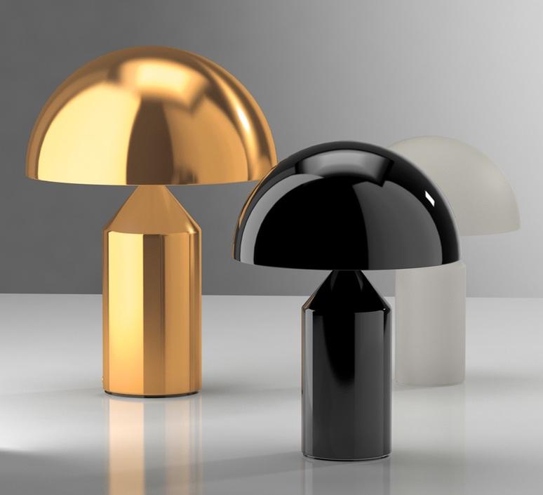 Atollo vico magistretti oluce 238 black luminaire lighting design signed 22144 product