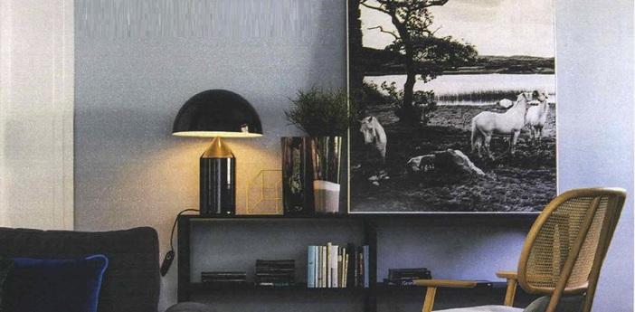 Lampe a poser atollo noir h50cm oluce normal