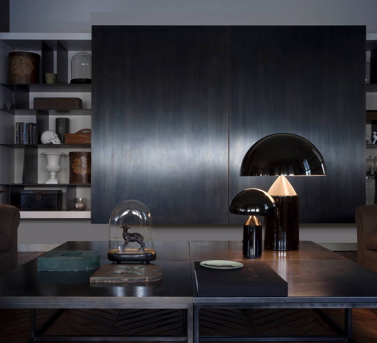 Atollo vico magistretti oluce 233 black luminaire lighting design signed 22115 product