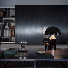 Atollo vico magistretti oluce 233 black luminaire lighting design signed 22115 thumb