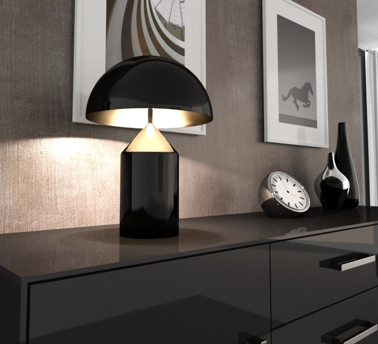 Atollo vico magistretti oluce 233 black luminaire lighting design signed 22117 product