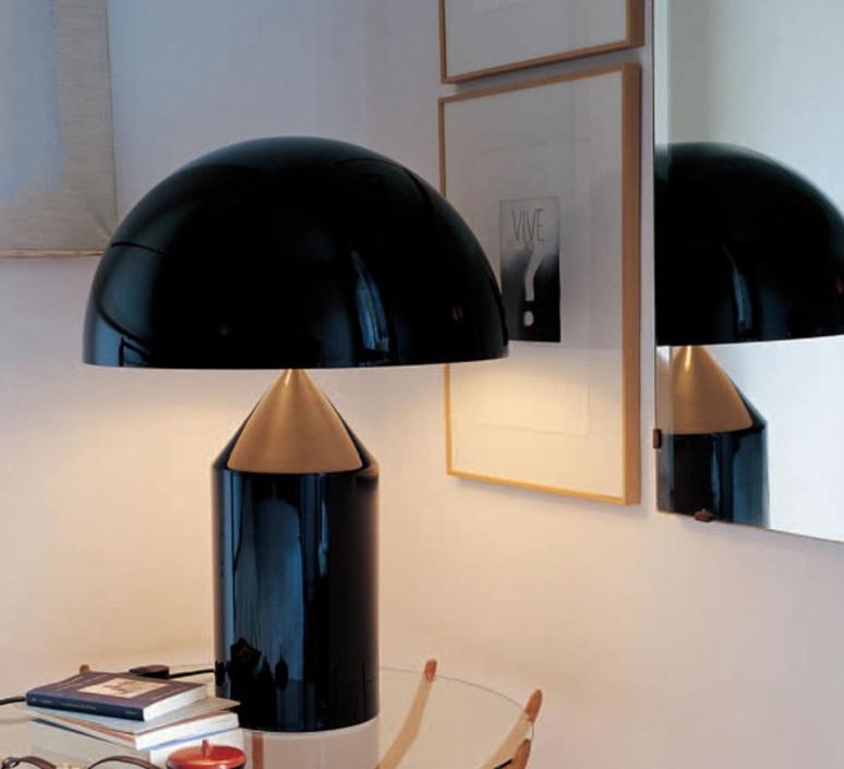 Atollo vico magistretti oluce 233 black luminaire lighting design signed 22118 product