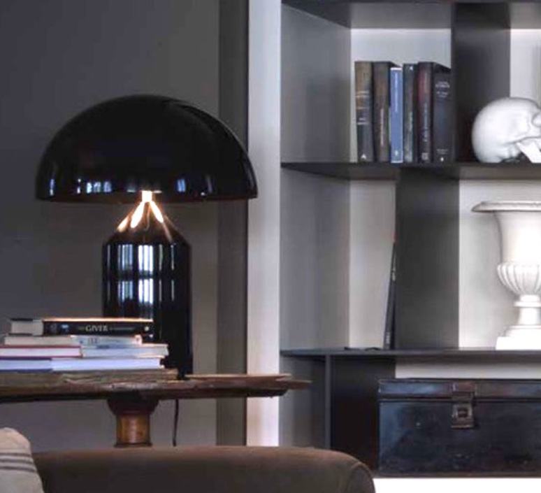 Atollo vico magistretti oluce 233 black luminaire lighting design signed 22119 product