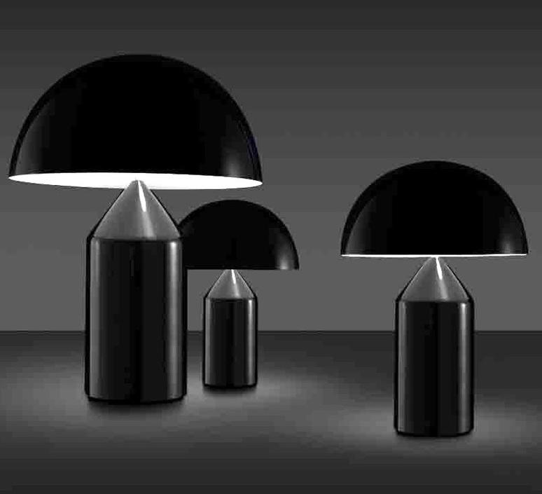 Atollo vico magistretti oluce 233 black luminaire lighting design signed 22120 product