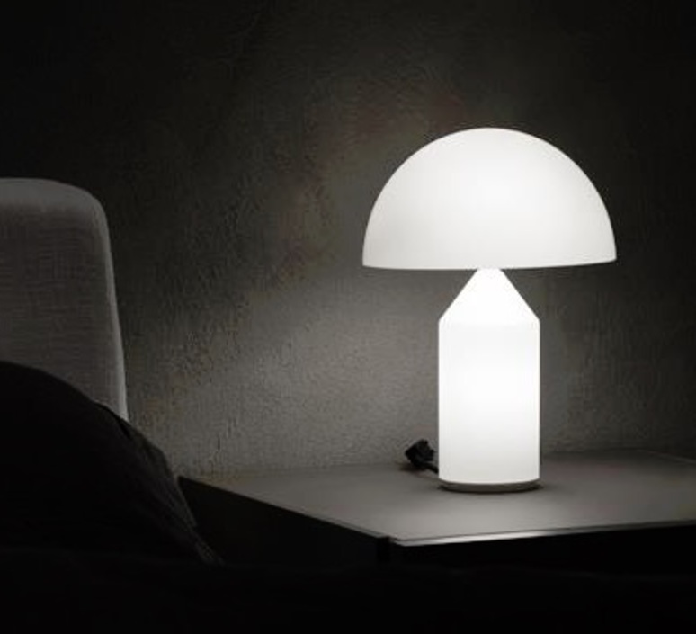 Table Lamp Atollo Opaline Opaque H35cm Oluce Nedgis Lighting
