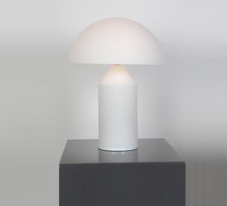 Atollo vico magistretti oluce 236 opaline luminaire lighting design signed 22150 product
