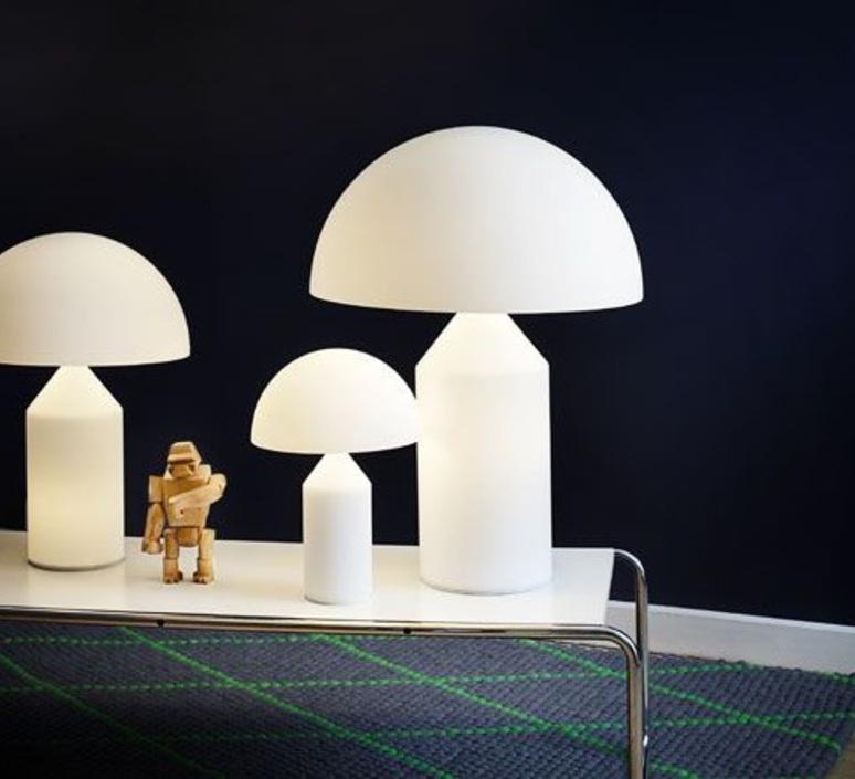 Atollo vico magistretti oluce 236 opaline luminaire lighting design signed 22153 product