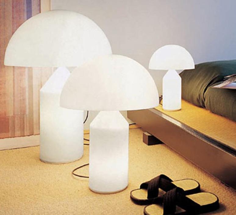 Atollo vico magistretti oluce 236 opaline luminaire lighting design signed 22154 product