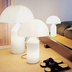 Atollo vico magistretti oluce 236 opaline luminaire lighting design signed 22154 thumb