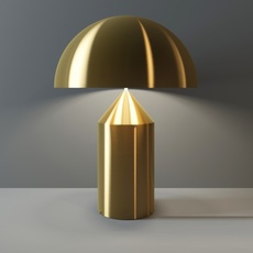 Atollo vico magistretti oluce 238 gold luminaire lighting design signed 22138 thumb