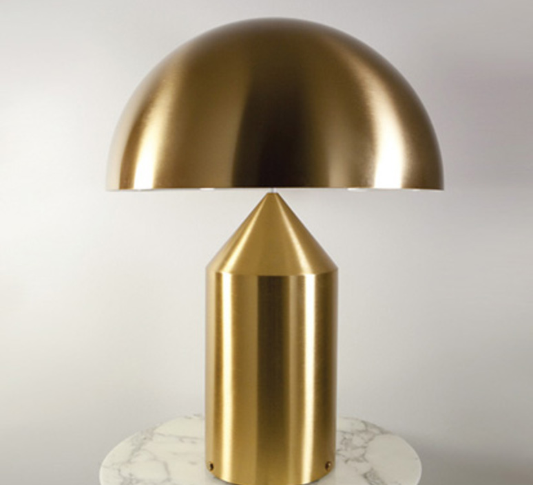 Atollo vico magistretti oluce 238 gold luminaire lighting design signed 22139 product