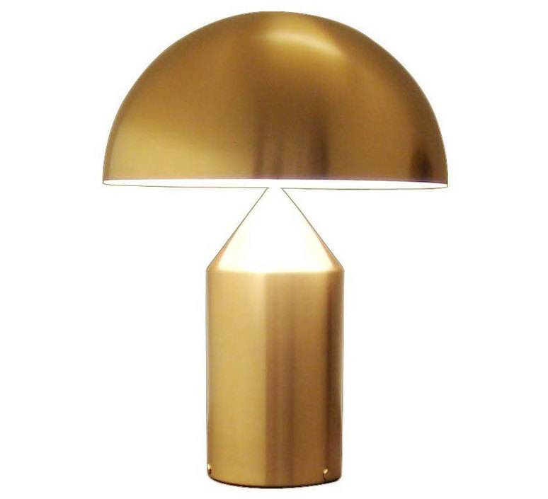 Atollo vico magistretti oluce 239 gold luminaire lighting design signed 22128 product