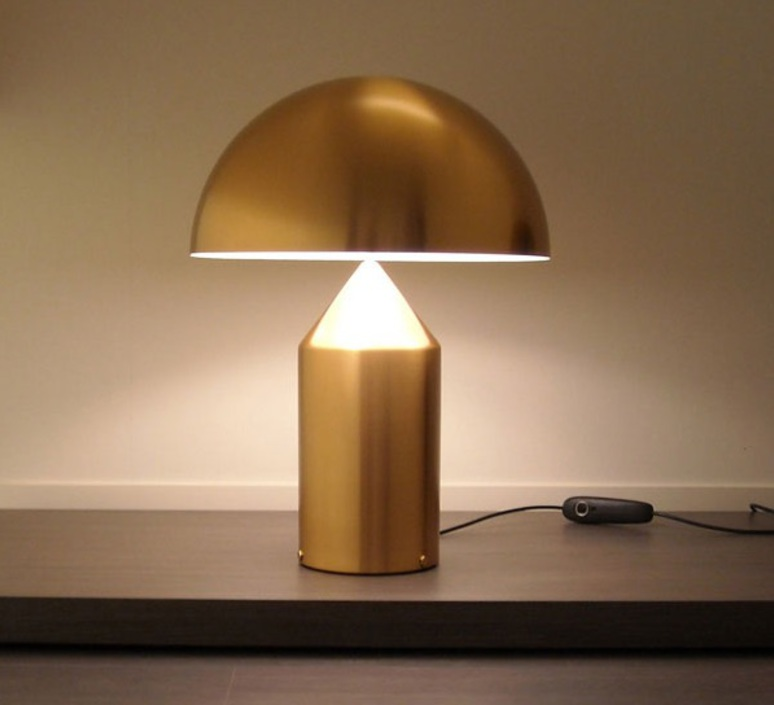 Atollo vico magistretti oluce 233 gold luminaire lighting design signed 22105 product