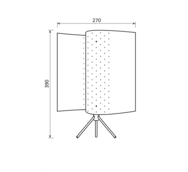 B207 michel buffet lignes de demarcation b207 blanc luminaire lighting design signed 23573 product