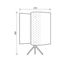 B207 michel buffet lignes de demarcation b207 blanc luminaire lighting design signed 23573 thumb