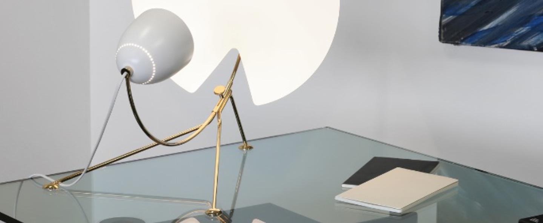 Lampe a poser b208 blanc h63cm lignes de demarcation normal