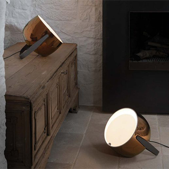 Lampe a poser bag bronze l32cm h31cm karman normal