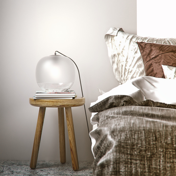 Lampe a poser bale blanc o25cm h22cm zanolla normal