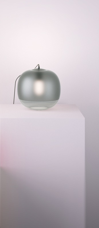 Lampe a poser bale gris fume o25cm h22cm zanolla normal