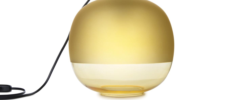 Lampe a poser bale jaune o25cm h22cm zanolla normal