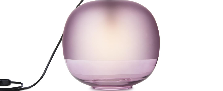 Lampe a poser bale violet o25cm h22cm zanolla normal