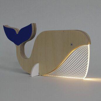 Lampe a poser baleine blanc o20cm h11cm studio cheha normal
