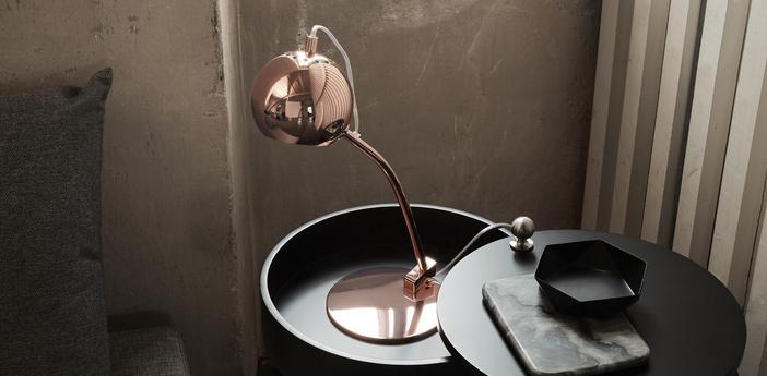 Lampe a poser ball cuivre l17cm h45cm frandsen normal