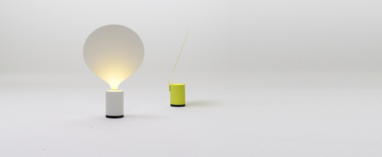 Lampe a poser balloon blanc h42cm vertigo bird normal