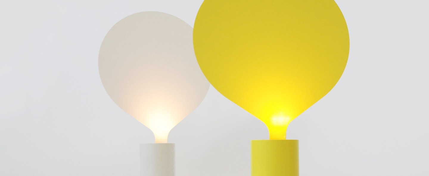 Lampe a poser balloon jaune h42cm vertigo bird normal