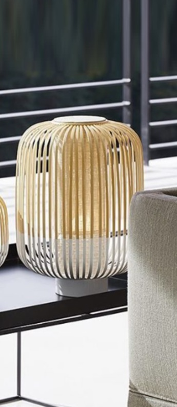 Lampe a poser bamboo light m blanc o27cm h39cm forestier normal