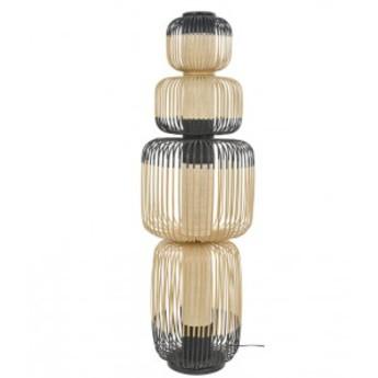 Lampe a poser bamboo light totem noir o45cm h138cm forestier normal