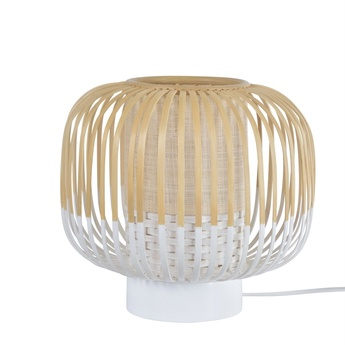 Lampe a poser bamboo light xs blanc o27cm h24cm forestier normal