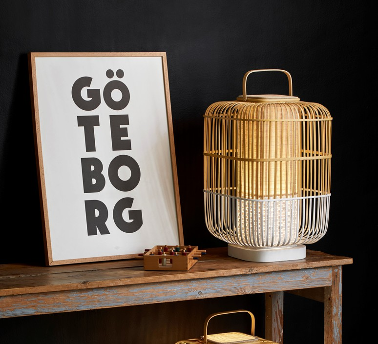 Bamboo square l arik levy lampe a poser table lamp  forestier 21227  design signed 70123 product