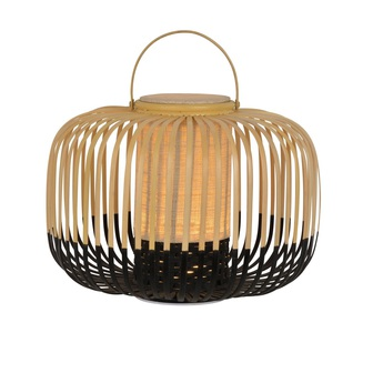 Lampe a poser bamboo take away s noir ip66 led 3000k 290lm o33cm h35cm forestier normal