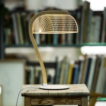 Lampe a poser banki marron l22cm h42cm studio cheha normal